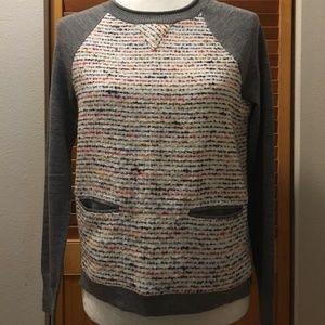 J. Crew Women's Merino & Tweed Sweater Size XS